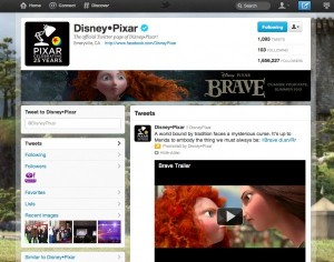 Twitter Brand Page example