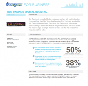 foursquare sample case study