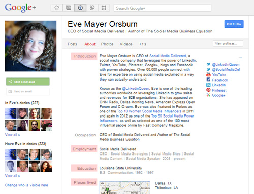 Eve Mayer Orsburn, Social Media Delivered, social media, Google Plus, Google+