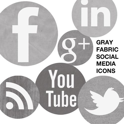 Gray Social Media Icons