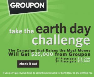 groupon social media earth day