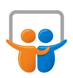 blue orange slideshare logo sharing content