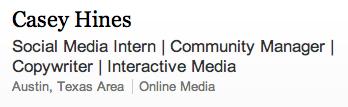 LinkedIn Social Media titles