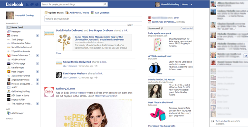 Facebook, Social Media Delivered, Facebook layout, social media