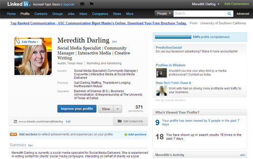 LinkedIn screenshot, LinkedIn history, Social Media Delivered, social media