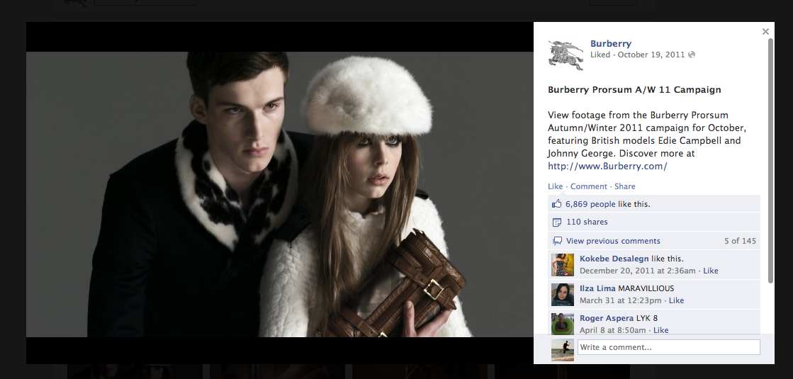 Burberry on Facebook