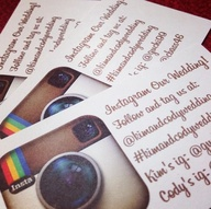 Instagram wedding hashtag, social media weddings