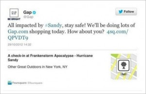 hurricane sandy promotions