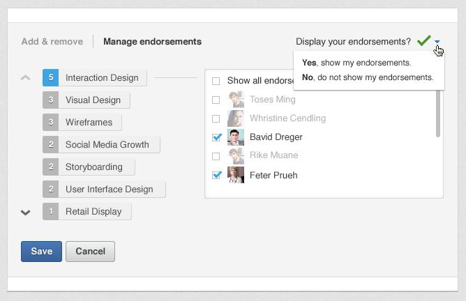 linkedin blog endorsements