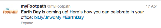 Footpath Earth Day