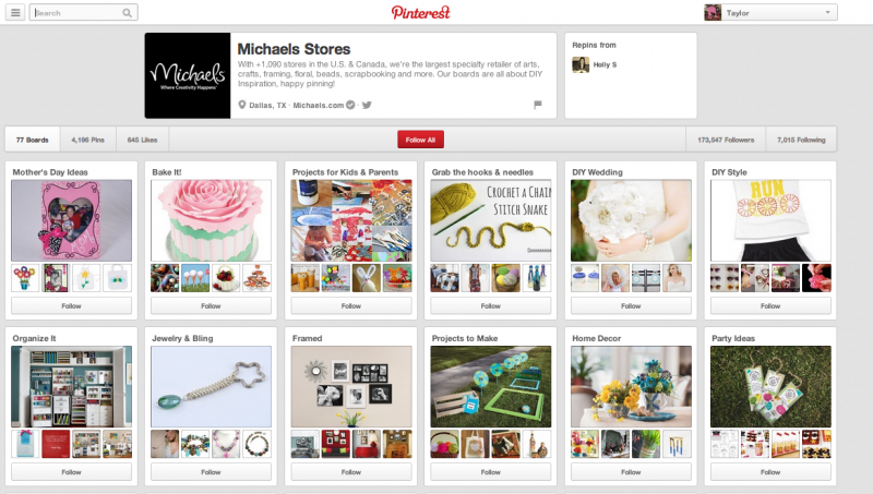 Michaels Pinterest