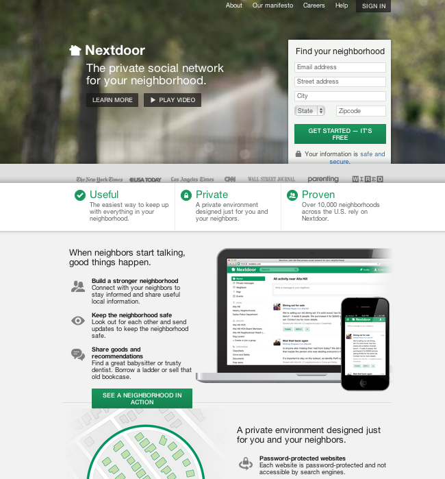 social media, social networking, private social media, path, nextdoor