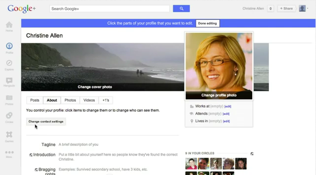 Google+ Timeline Badge