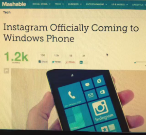 Instagram on Windows Phone
