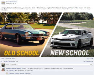 A look at how Chevrolet Camaro is driving engagement with their Facebook fans (Inside Facebook)