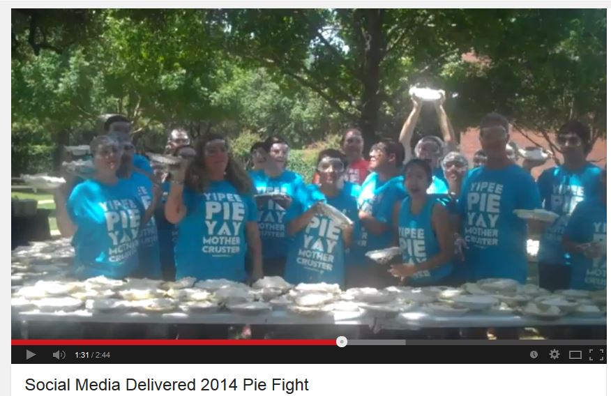 Social Media Delivered Pie Fight 2014