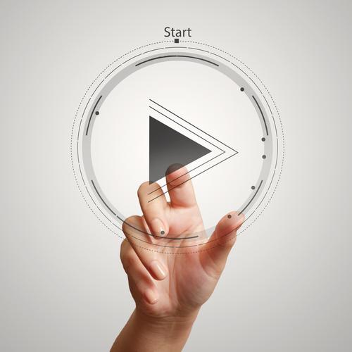 Creative Video Play Button