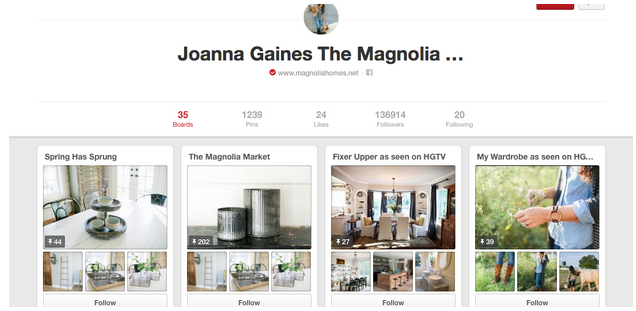 How Fixer Upper S Joanna Gaines Uses Pinterest Social Media Delivered