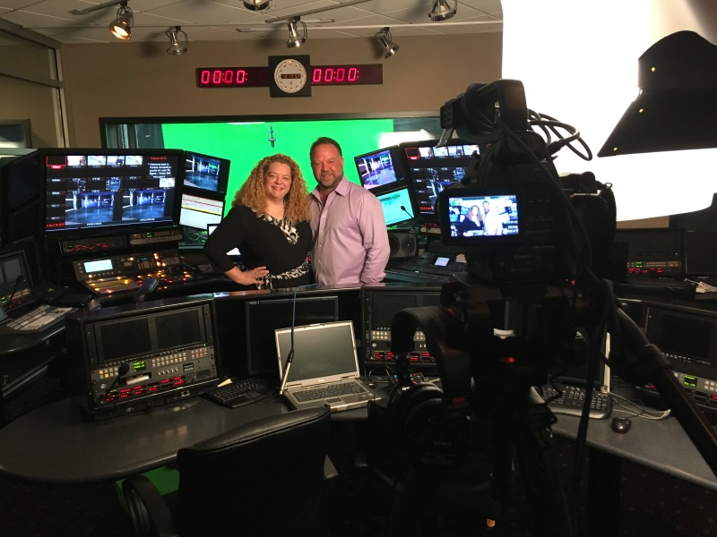 Eve Mayer and Splash Media Ceo/Owner John Dankovchik at Splash Media's Studio