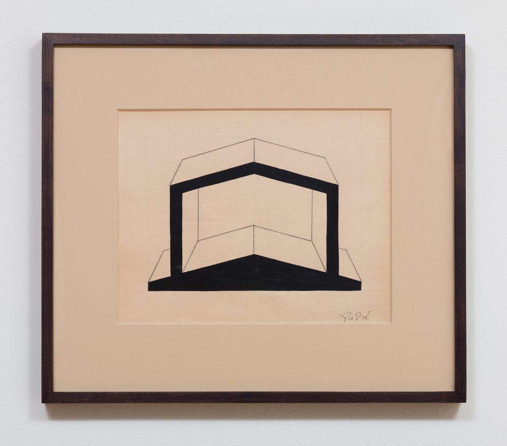 Donald Judd  'Untitled' 1990s Pencil and gouache on paper 9.25 x 11.75 inches, 16.25 x 18.5 inches framed  Photo by Ruben Diaz