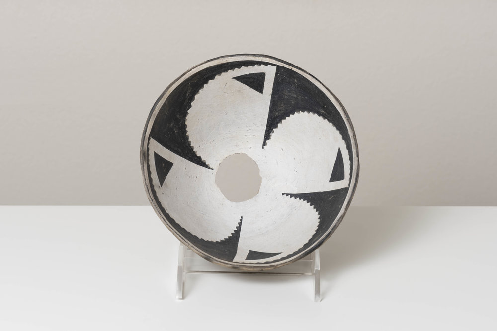 Classic Mimbres Black-on-White, painted ceramic, c. 900 - 1000 CE