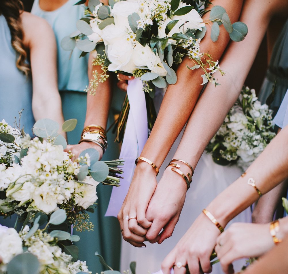 The Bridal Collection - Cuffs and other fun bling for your bride tribe, or for your newly engaged bestie!