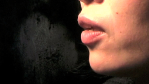 Video Still, 2011 glass pane, language translation 16:8 dimensions variable