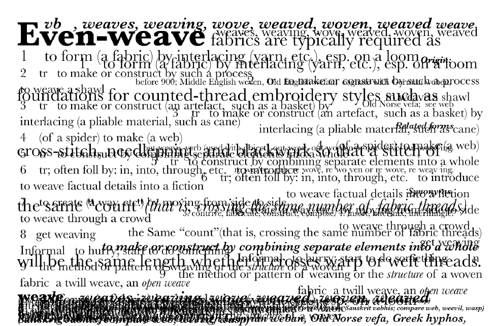 Even-weave