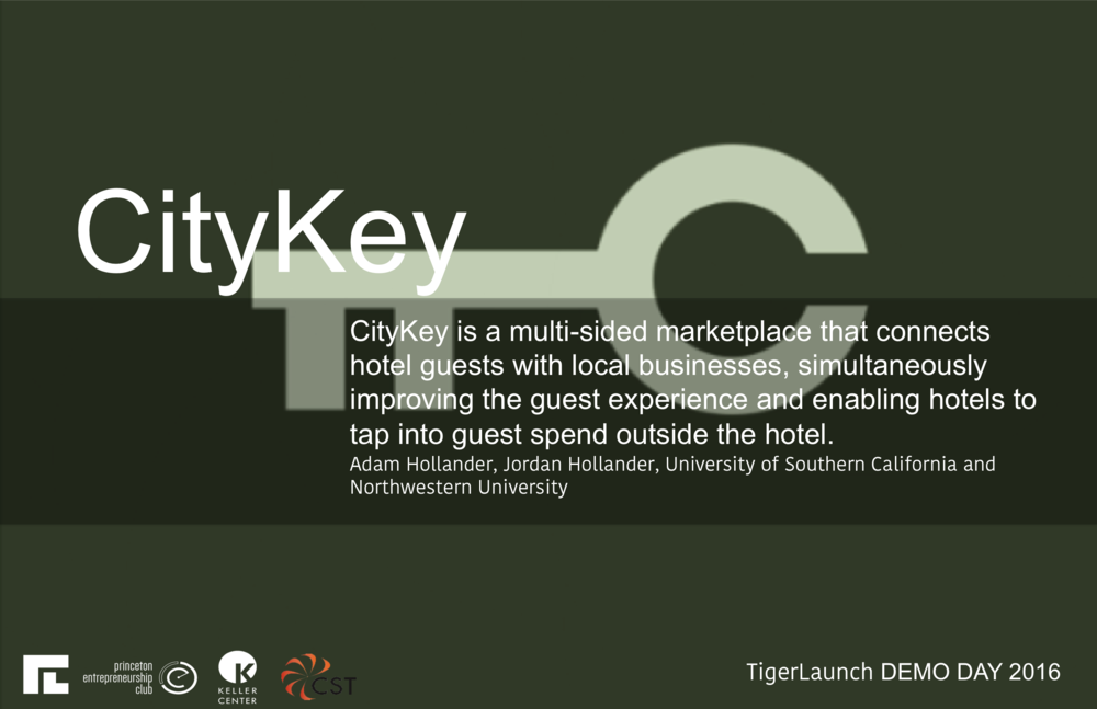 https://citykey.travel   CityKey is a platform to help hotels build custom interactive city guides for their guests by leveraging our database of proprietary content curated by our team of professional travel writers. We blend API data with editorial content to deliver an immersive experience across all devices with no download required. We have multiple hotel partners, strong user engagement metrics and are poised for growth.