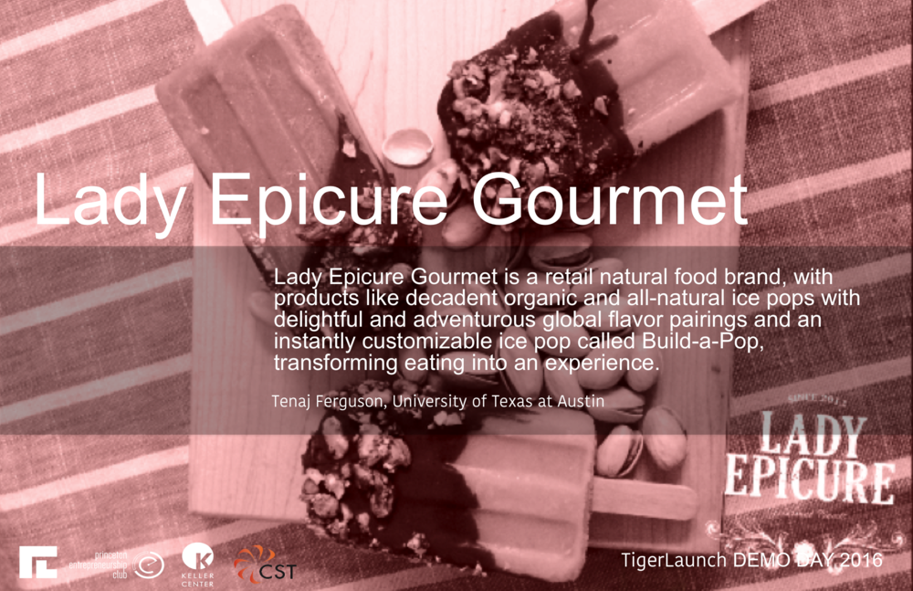 http://www.ladyepicuregourmet.com   Lady Epicure Gourmet is a retail natural food brand, the product line includes decadent organic and all-natural ice pops with delightful and adventurous global flavor pairings. Our newest food-tech innovation is Build-a-Pop, which offers a customizable experience for customers to design their own instant ice pop from the shape, fruit puree, flavor infusion and wrapper all from a touch screen and in seconds you can eat and enjoy your custom creation with this enhanced eating experience that keeps the delightful memories of your favorite frozen treats alive and relevant.