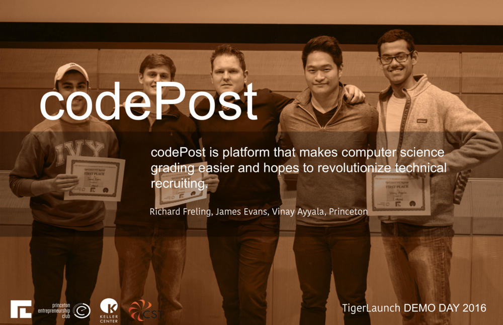 Codepost is a repository for computer science coursework and feedback. At Princeton and many other universities, after coding assignments are submitted, they are printed out, commented by pen, and returned to a folder in the mailroom. This process is not only inefficient for both students and graders, but there is also no grader accountability, little student engagement, limited data on students, and lots of wasted paper. Codepost allows computer science departments to upload student assignments to the cloud, allows graders to easily deliver feedback on the assignments, and provides an interface for students to see their assignment results. Codepost increases student engagement with grader communication channels, tracks common mistakes and finds patterns at the student, section, and class levels, and increases grader efficiency, accountability, and consistency.