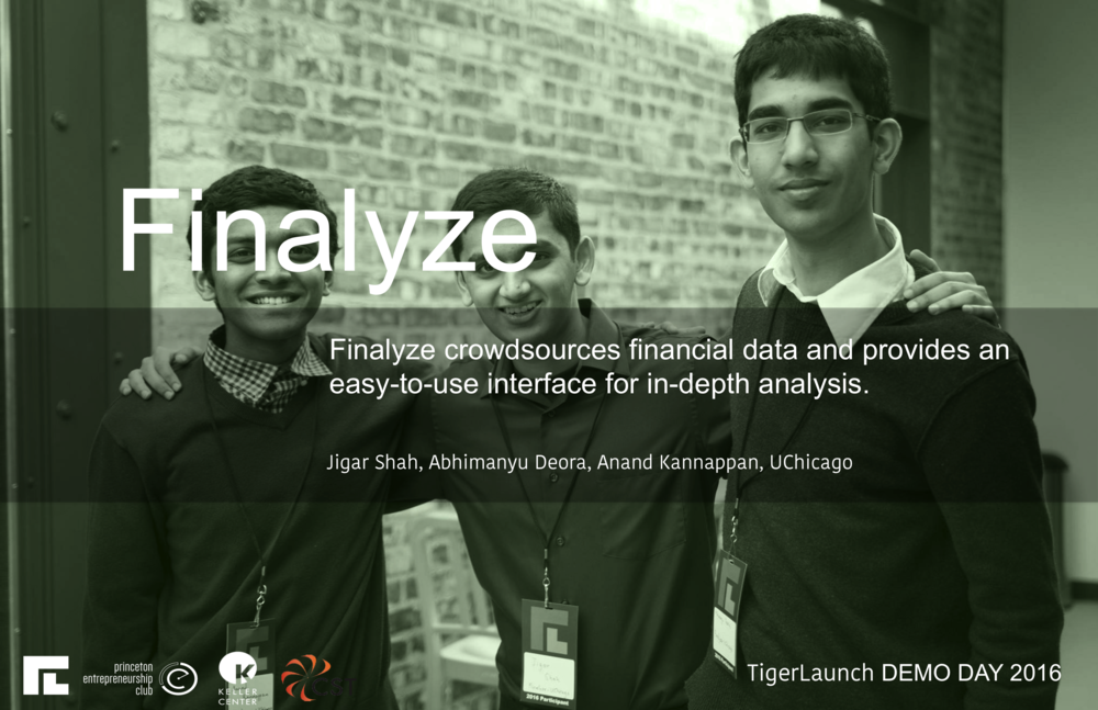 http://www.finalyze.me   Finalyze aspires to be the modern equity research platform. We have developed a set of PDF parsing and machine learning algorithms to identify and extract important data points from SEC 10k filings and earnings calls to assist investors with equity research. Current equity research dumps excessive data without providing investors much context as to what the data is; Finalyze hopes to streamline the equity research process by presenting the most significant data points first, alongside strategic business insights.