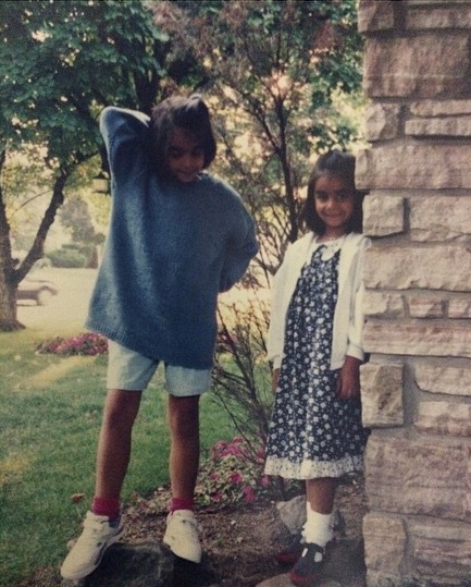 Me, and my lil sis, circa 199(?)