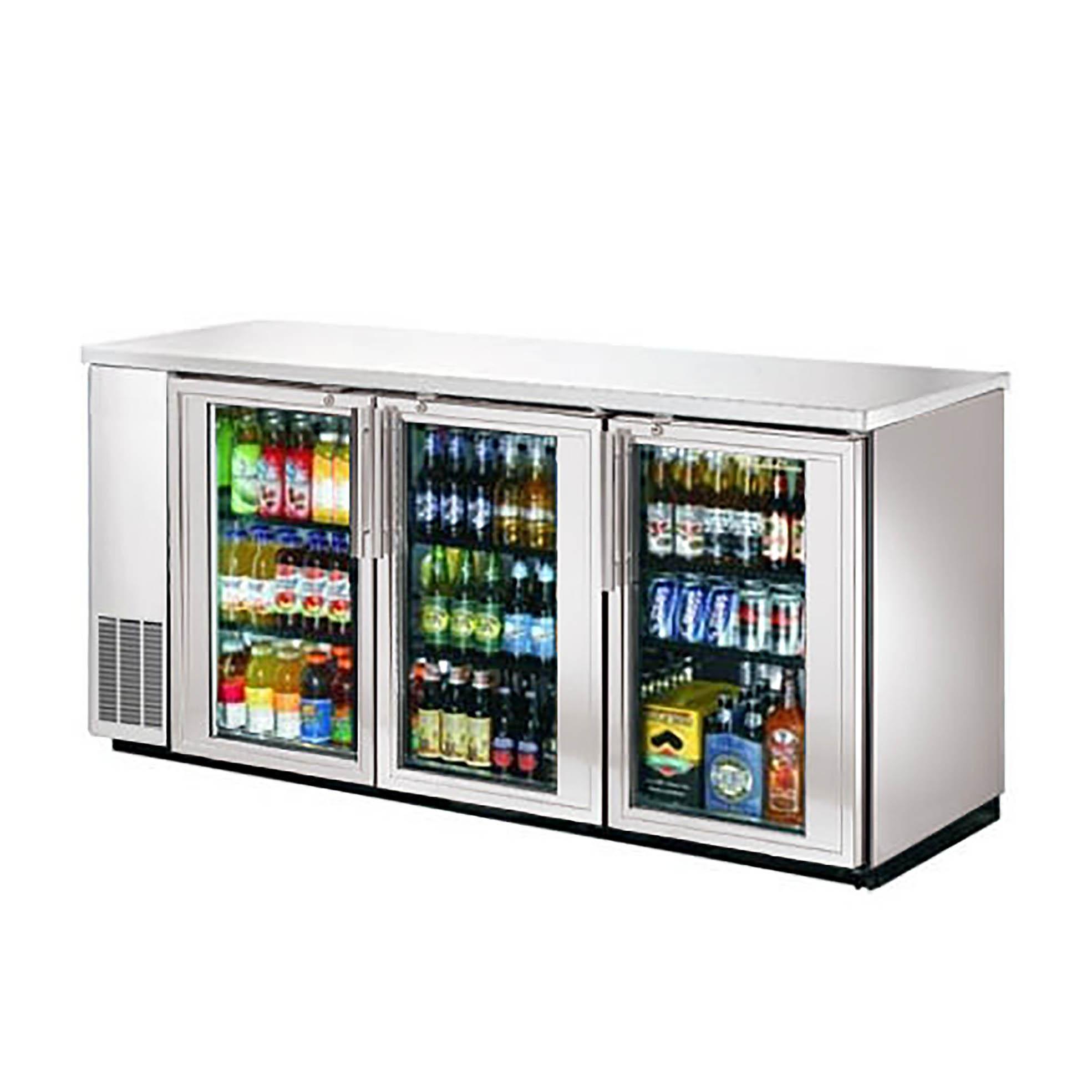 Efi Cbbsgd3 72cc 72 3 Door Glass Stainless Back Bar Refrigerator