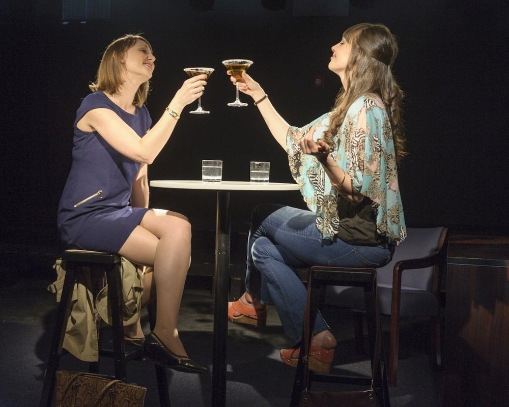 Molly Thomas and Shannon Sullivan in Breathing Time (photo by Jacob J. Goldberg)