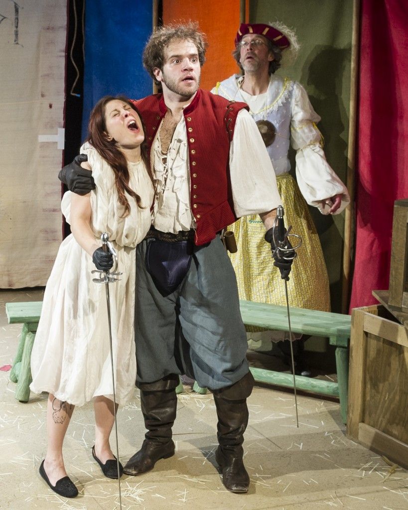 Jenny Seastone, Kelsey Kurz, and Grant R. Krause in The Faire (photo by Jacob J. Goldberg)