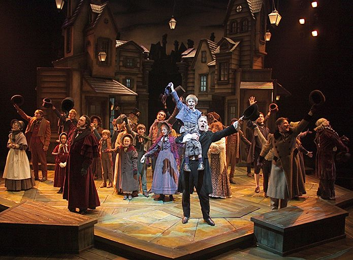 Photo by Sandy Underwood for the Cincinnati Playhouse in the Park production of A Christmas Carol.