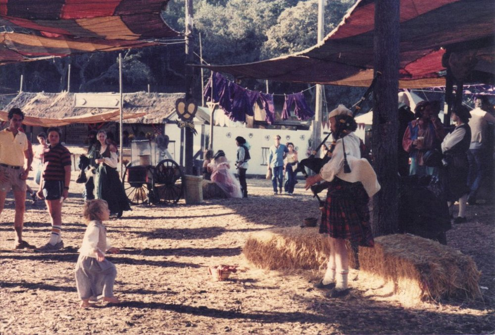 Crystal Finn as a child at Renaissance Faire