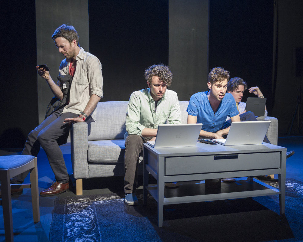 Jimmy King,  Aaron Rossini ,  Karl Gregory , and  Craig Wesley Divino  in  From White Plains  (photo by Brittanie Bond)