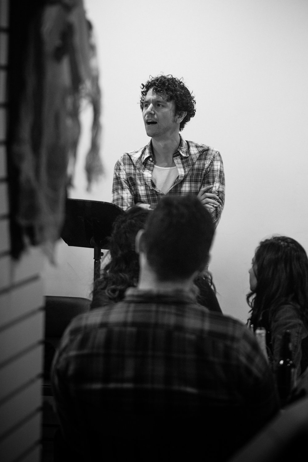 Co-Artistic Director and actor Aaron Rossini. Photo by Katherine Oostman.