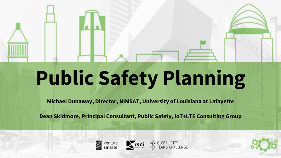 Public Safety Planning Smart Cincy Summit Workshop