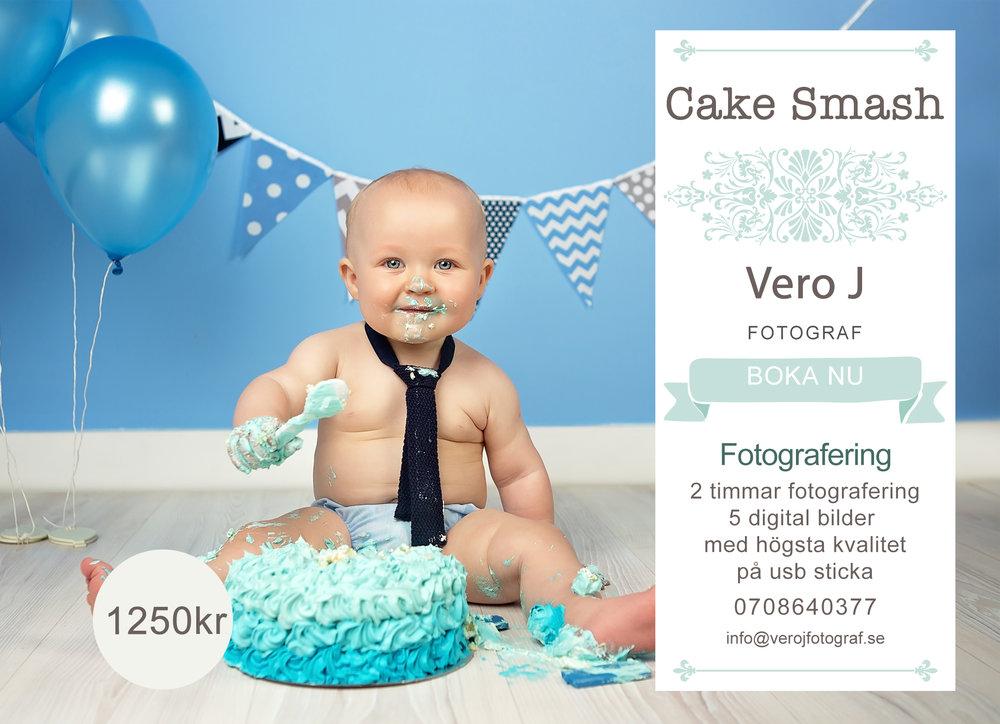 Cake Smash Erbjudande Vero J Fotograf