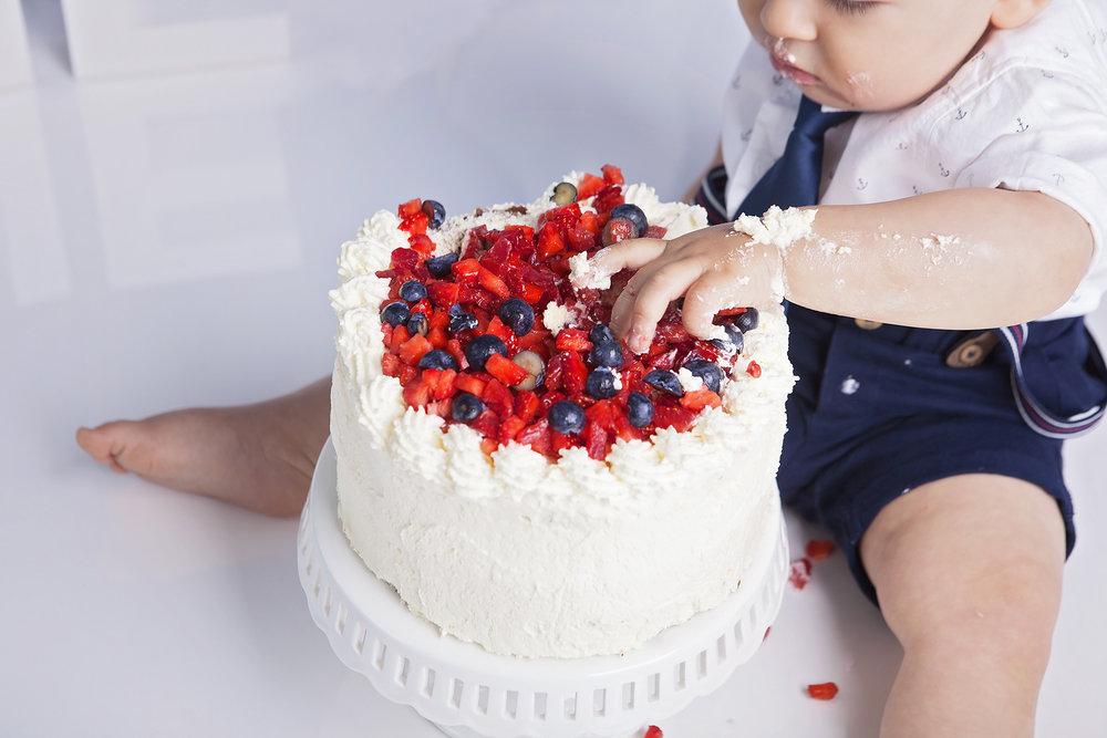Cake Smash Fotografering Stockholm