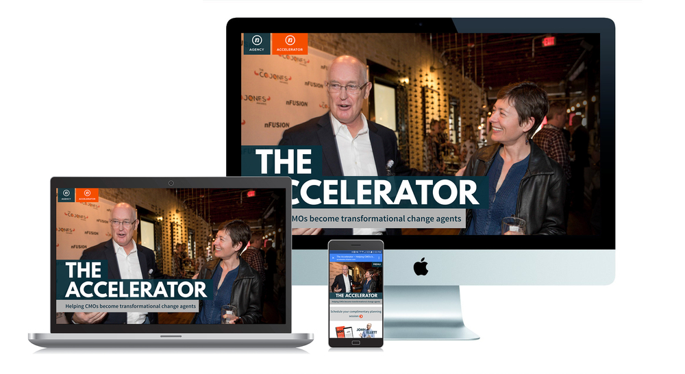 The Accelerator website. Programs: Photoshop and Illustrator.
