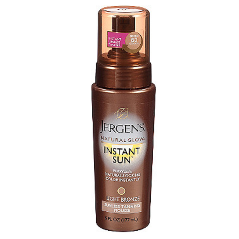 Jergens Natural Glow Instant Sun Sunless Tanning Mousse ($11.99)