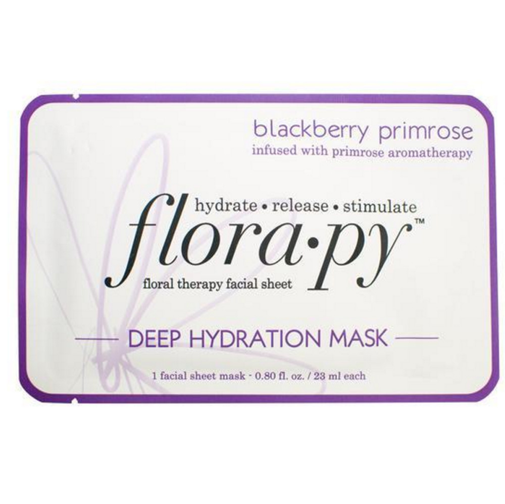 flora•py blackberry primrose Deep Hydration floral therapy Sheet Mask ($8 - $38)