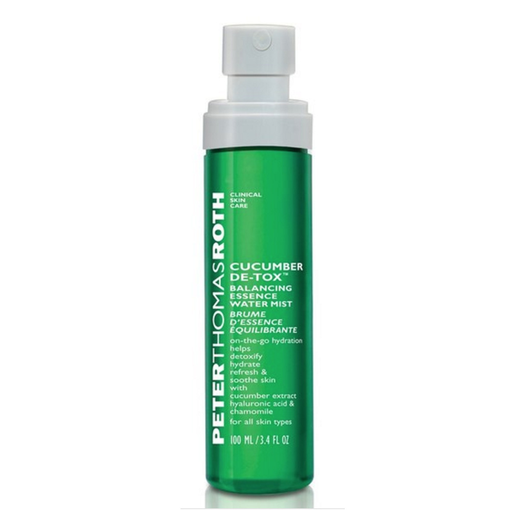 Peter Thomas Roth Cucumber De-Tox Balancing Essence Water Mist ($28; comes with compressed sheet masks inside)