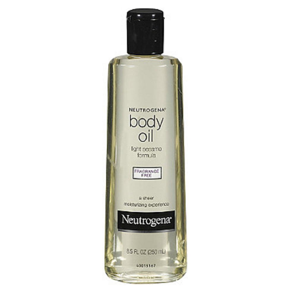 Neutrogena body oil light sesame formula, Fragrance Free ($9.99)