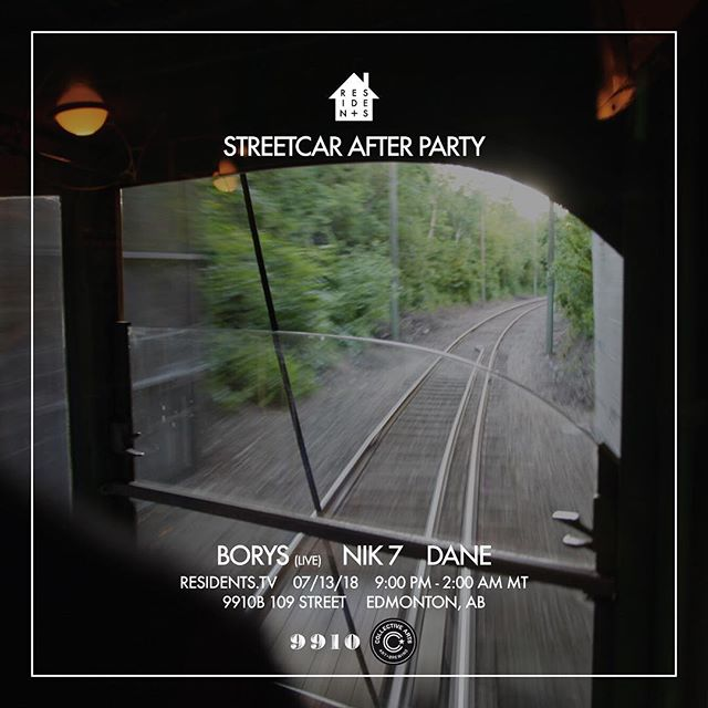 Yup, just when you thought next Friday couldn't get any better. 👋🏼 Afterparty at 9910 on July 13th with some HEAVY hitters. BORYS (live), NIK 7, and DANE!! #residentstv
