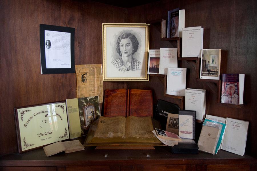 Una exhibición de sus obras en el Centro Cultural Rosario Castellanos